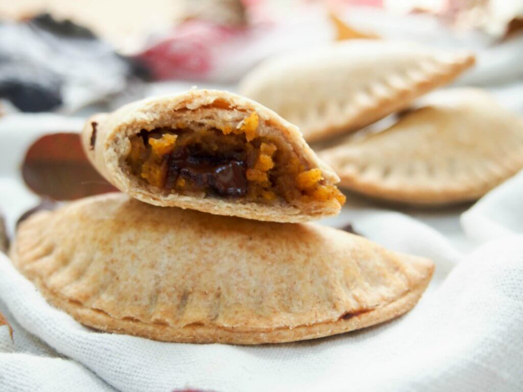 Chocolate chip and pumpkin empanadas