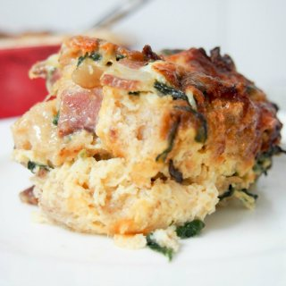 breakfast strata with bacon and date