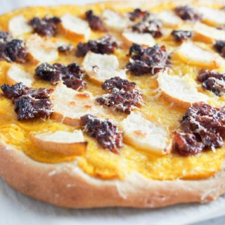 This bacon jam, pear and butternut squash pizza