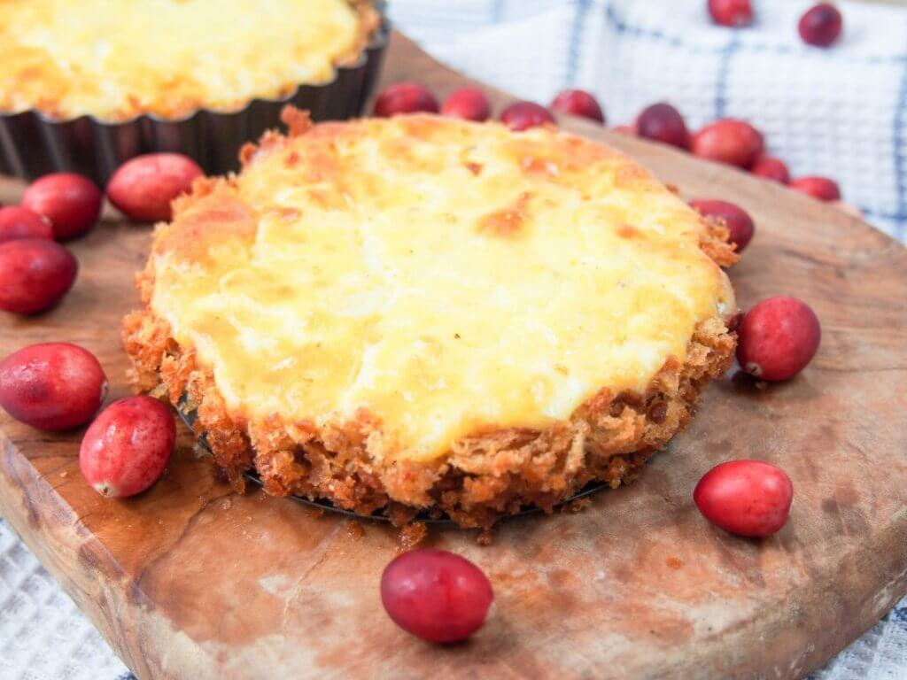 This savory cranberry and cheese tart is a great way to use Thanksgiving leftovers in a delicious new way - sweet and savory, it's easy and so good.