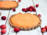 cranberry lemon curd tart