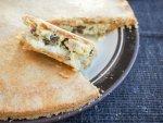 'Australian pie' - leftover turkey pie with raisins and bechamel