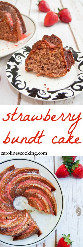 This Strawberry Bundt Cake Is Made From Scratch With No Gelatin Light Full Of