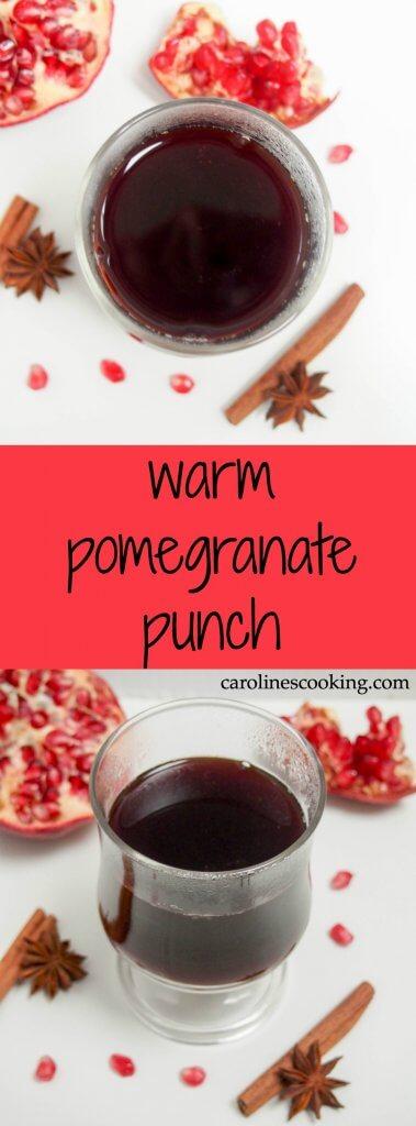 warm pomegranate punch