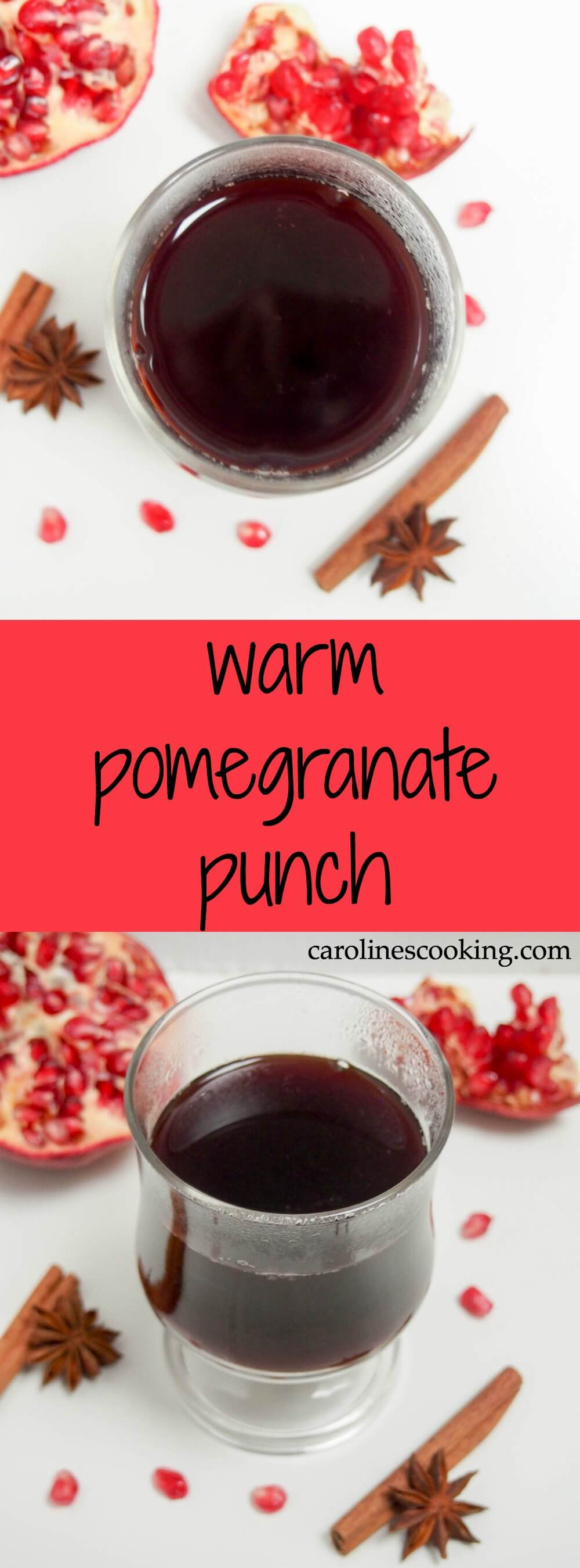warm pomegranate punch