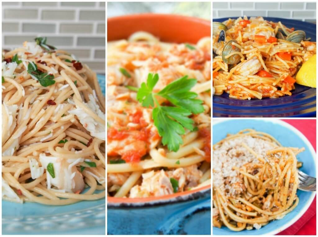 seafood pasta - feast of the seven fishes