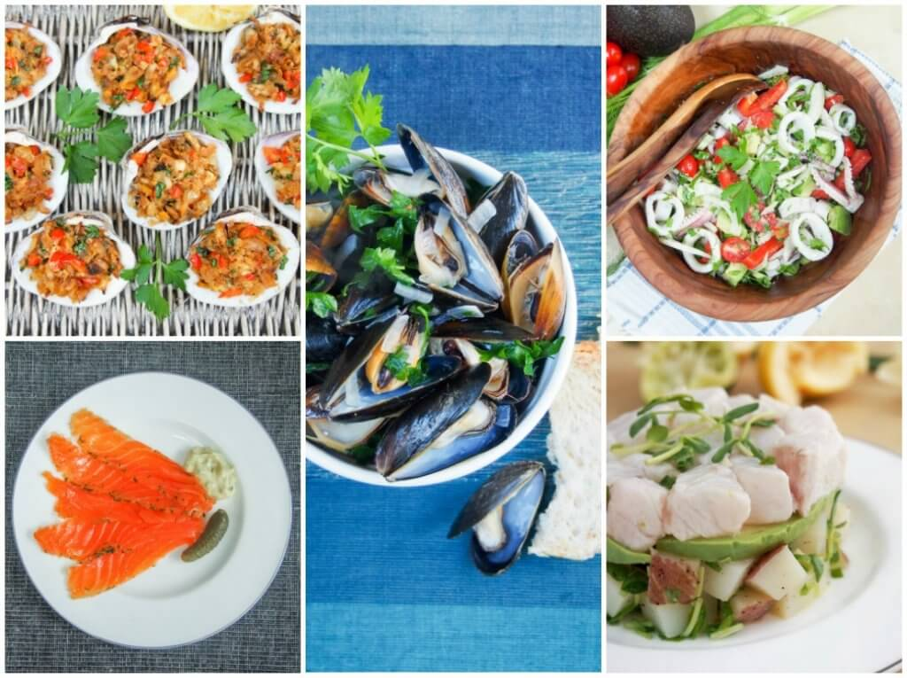 seafood small plates & salad - feast of the seven fishes