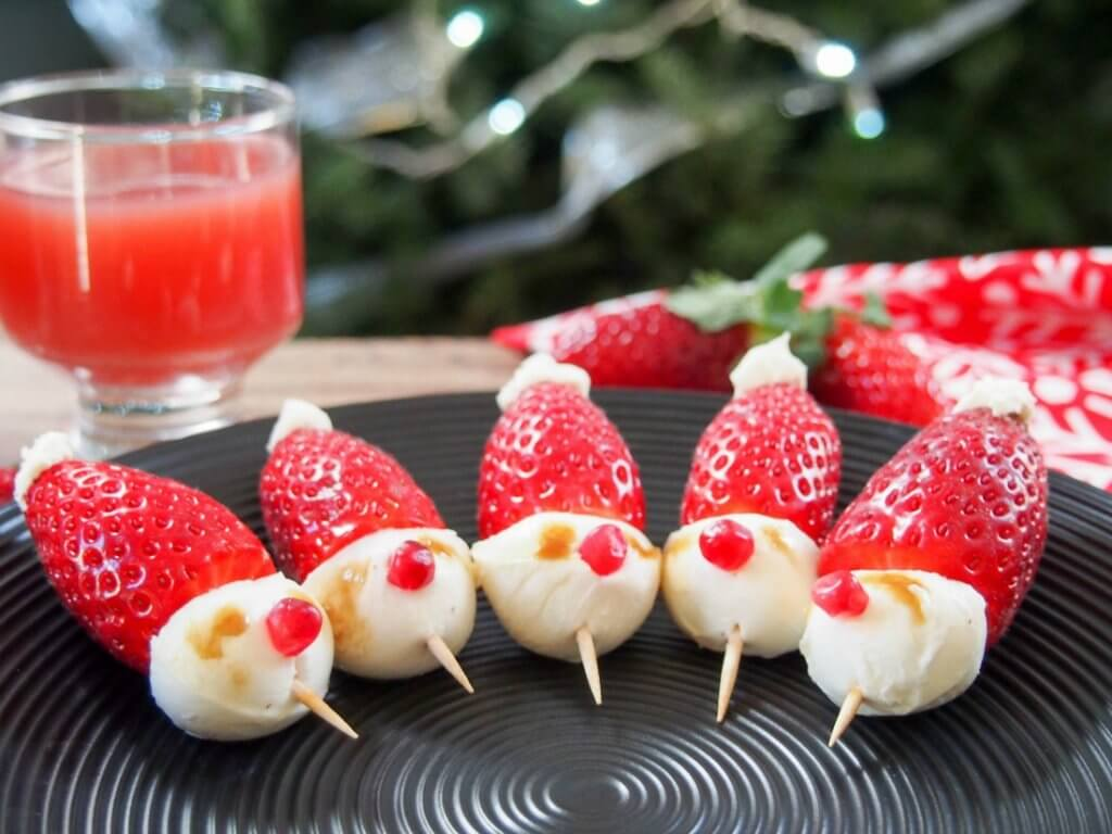 strawberry santas and other easy holiday party ideas - caroline's