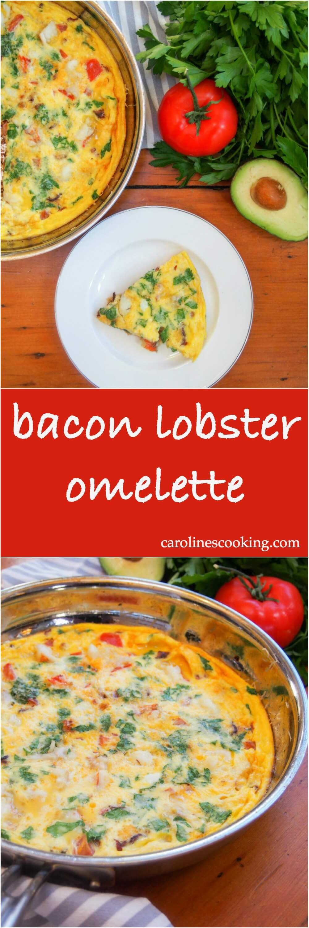 bacon lobster omelette - Whether you're looking for a tasty brunch or easy lunch/dinner, this bacon lobster omelette is easy to make but feels a little indulgent & special. So good! #lobster #valentinesday #brunch