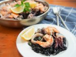 arroz negro - Spanish black rice paella