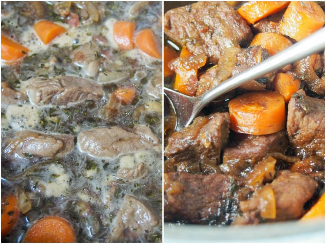 making beef and stout stew