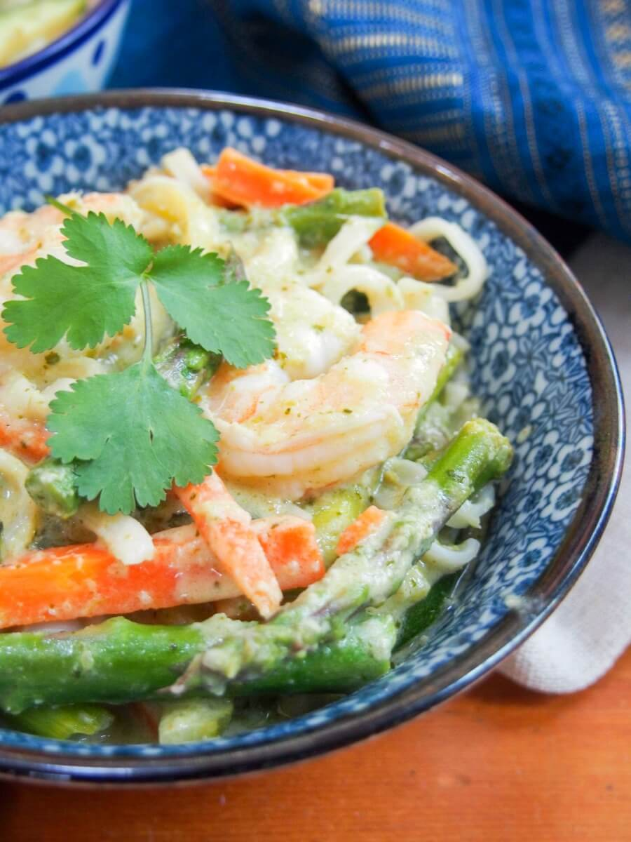 Thai green curry shrimp is such a classic, tasty meal that's easier to make with homemade sauce than you might think. Plus you can make you meal in one pan.
