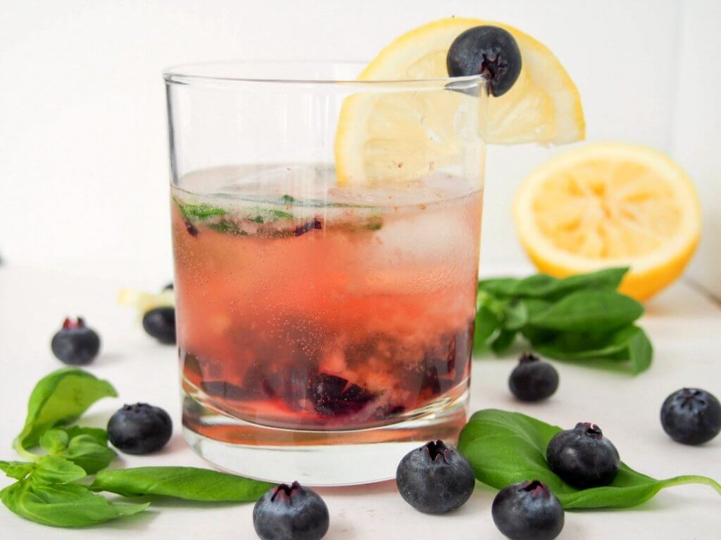 The bashful blueberry cocktail