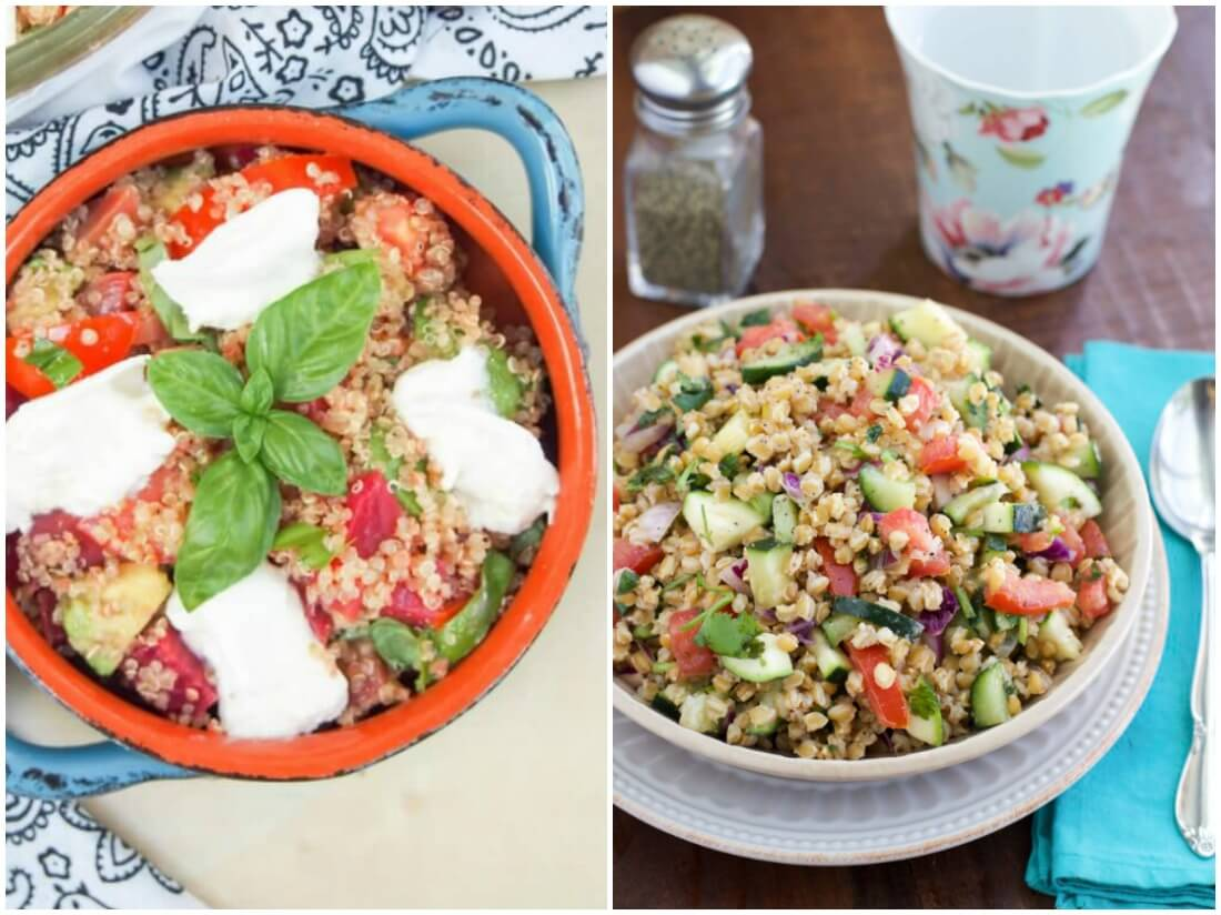 grain salads - make ahead salads