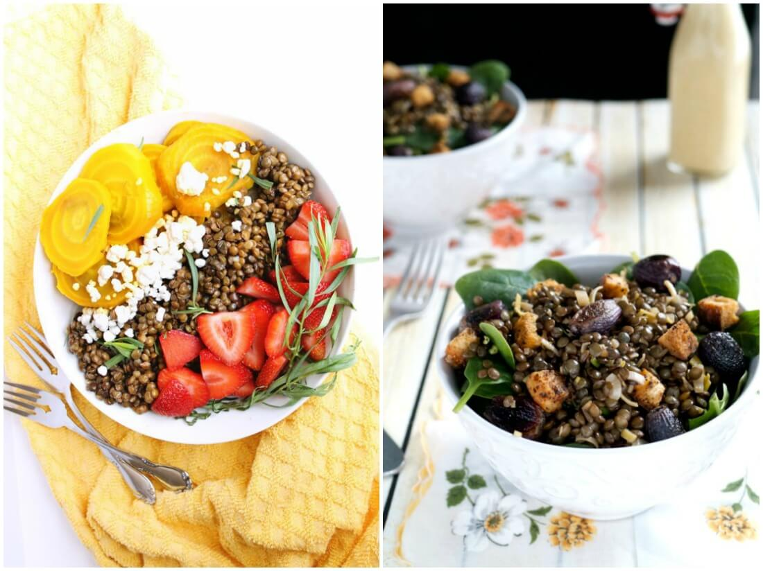 lentil salads - make ahead salads