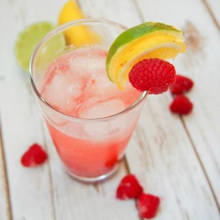 raspberry collins cocktail
