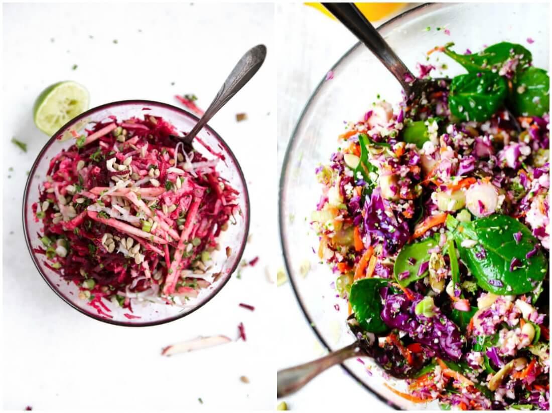 veggie salads - make ahead salads