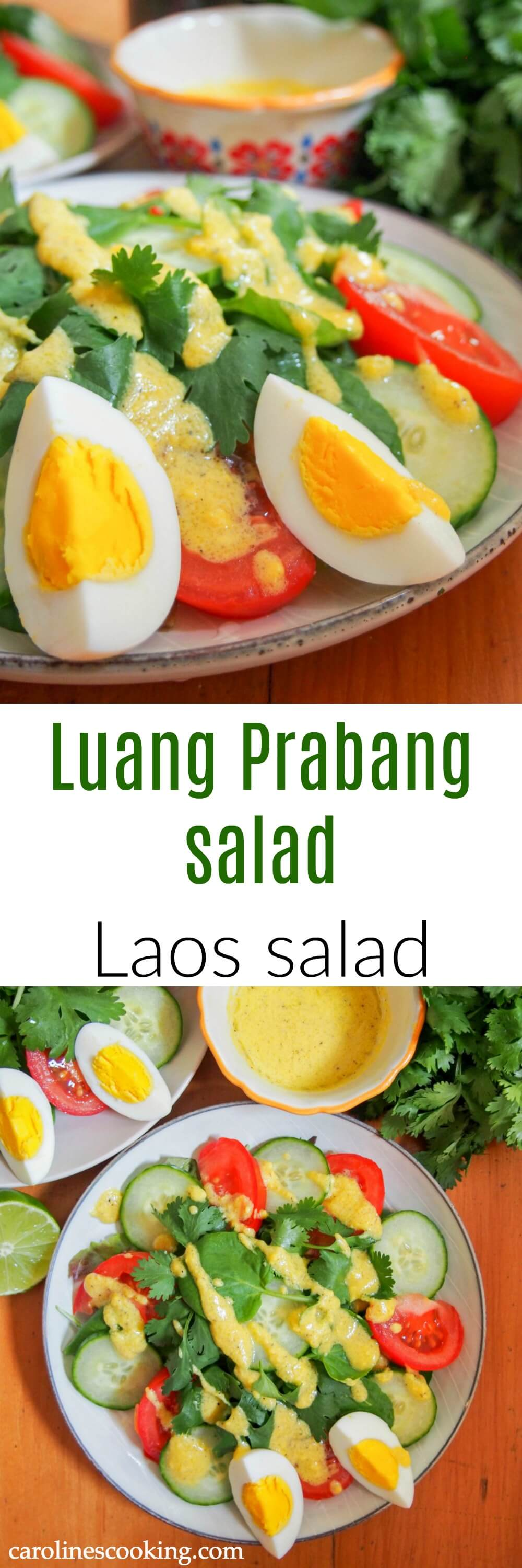 Luang Prabang salad is an easy, simple dish with a slightly unusual dressing that's a classic in Laos. This Laos salad is a perfect light lunch or side dish both to Asian food and many more.