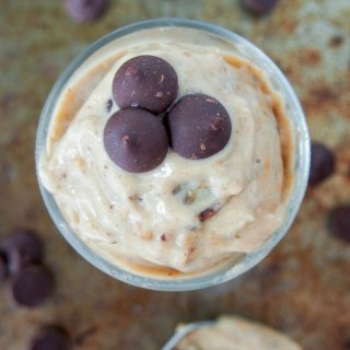 Peanut butter banana ice cream with chocolate chips
