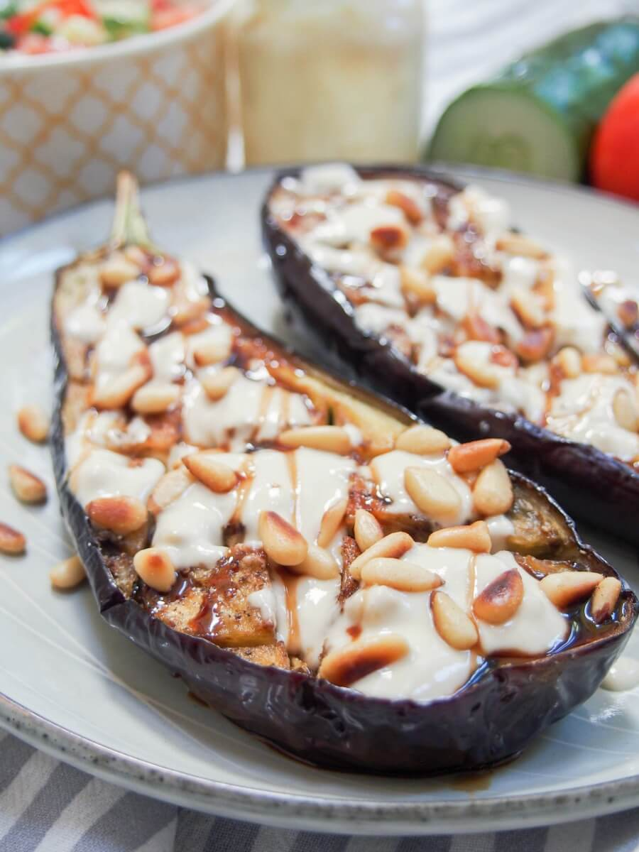 Roasted eggplant with tahini