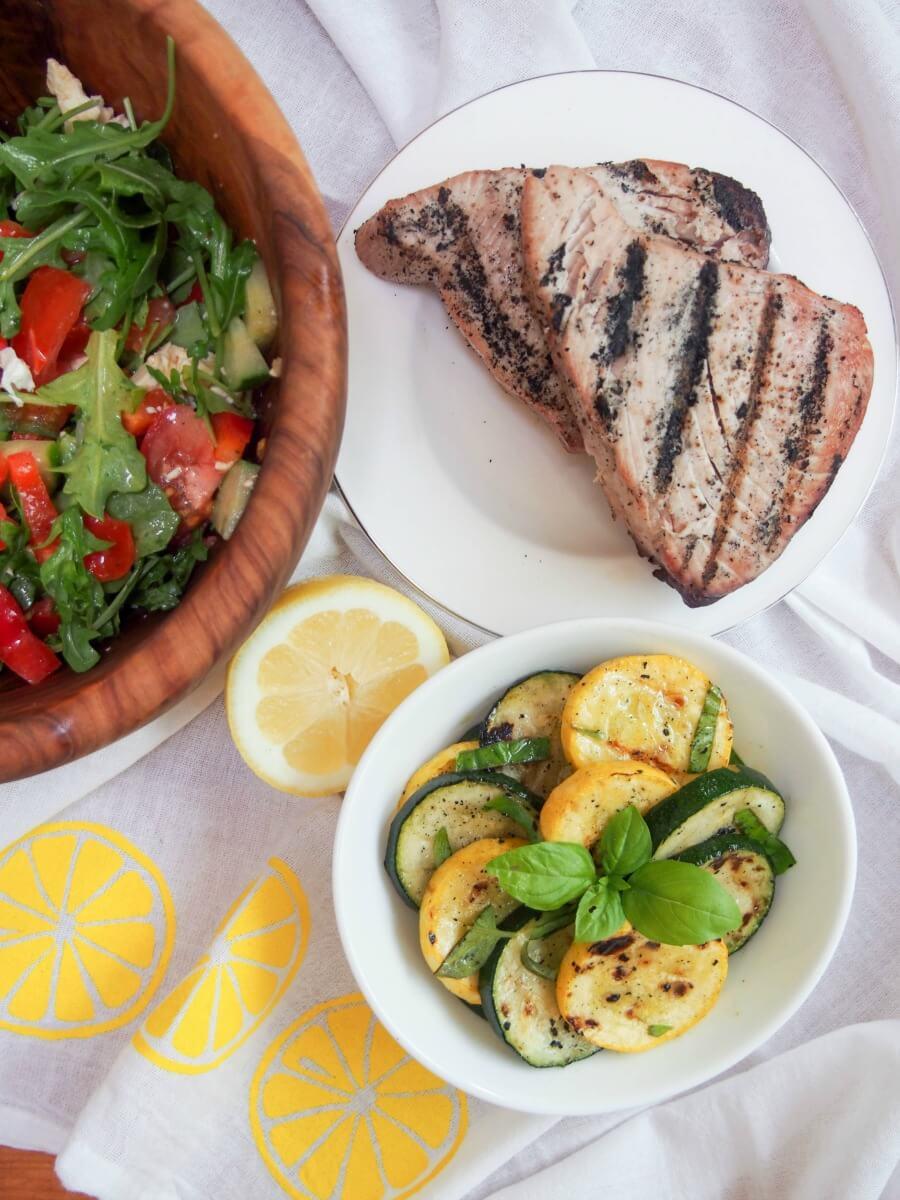 Marinated zucchini and summer squash - Caroline's Cooking