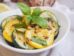 marinated zucchini and summer squash
