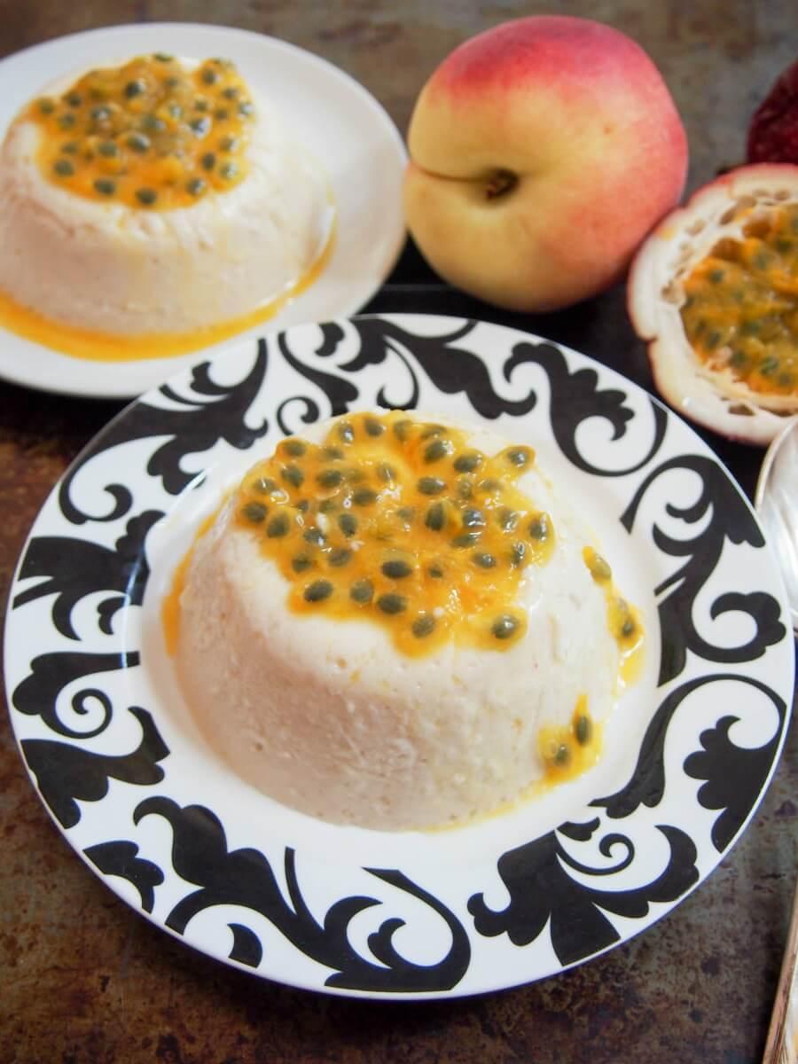 peach panna cotta - a deliciously smooth and creamy, easy dessert