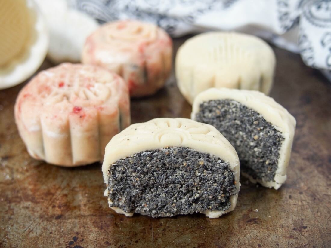 Chinese mooncakes snow skin mooncakes