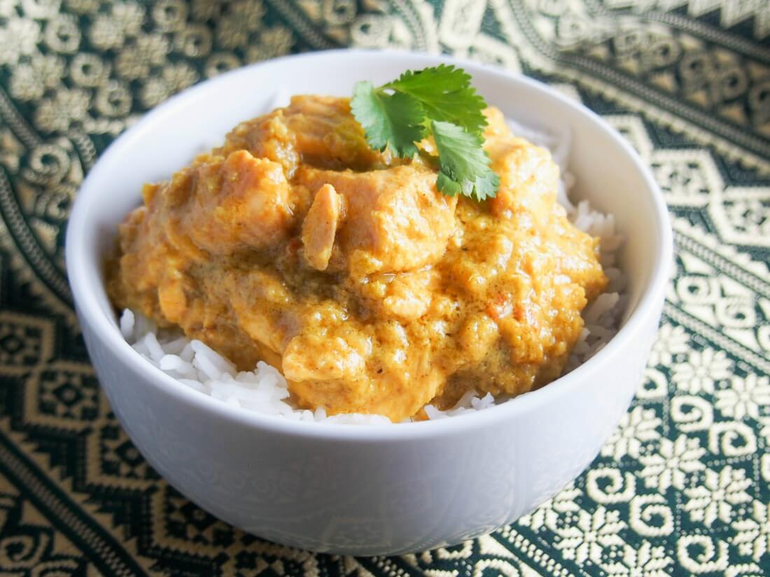 Kid-friendly salmon curry