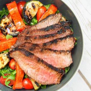maple-soy marinated steak salad