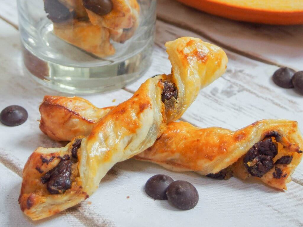 Chocolate pumpkin pastry twists