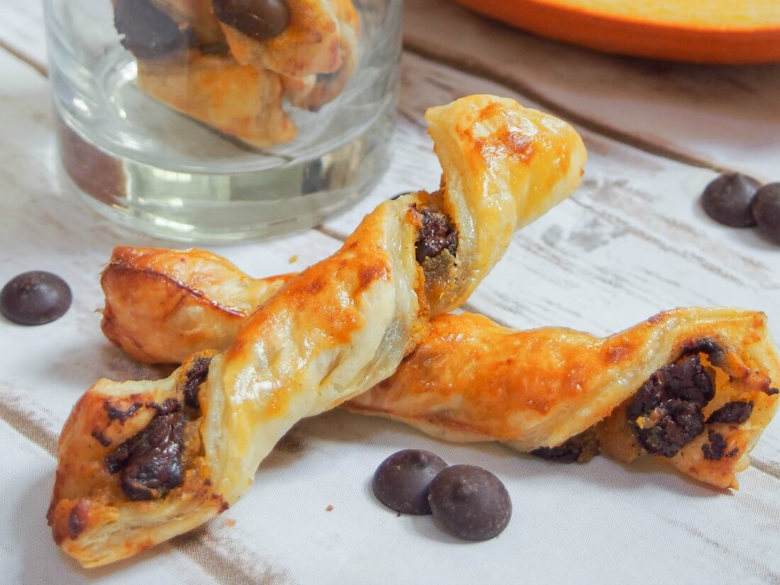 how to make chocolate puff pastry