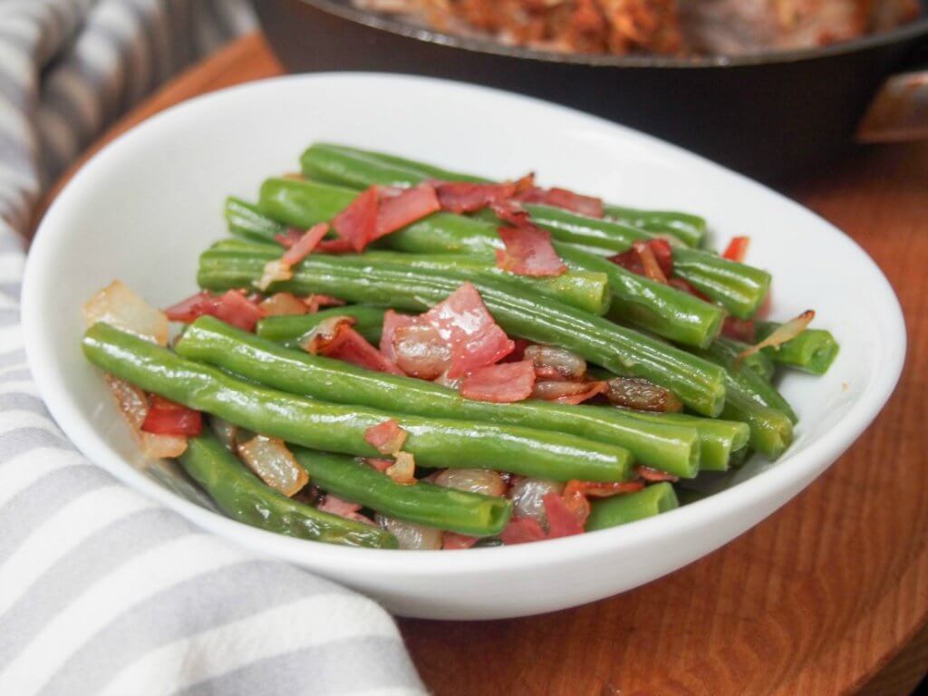 Speckbohnen (German green beans)
