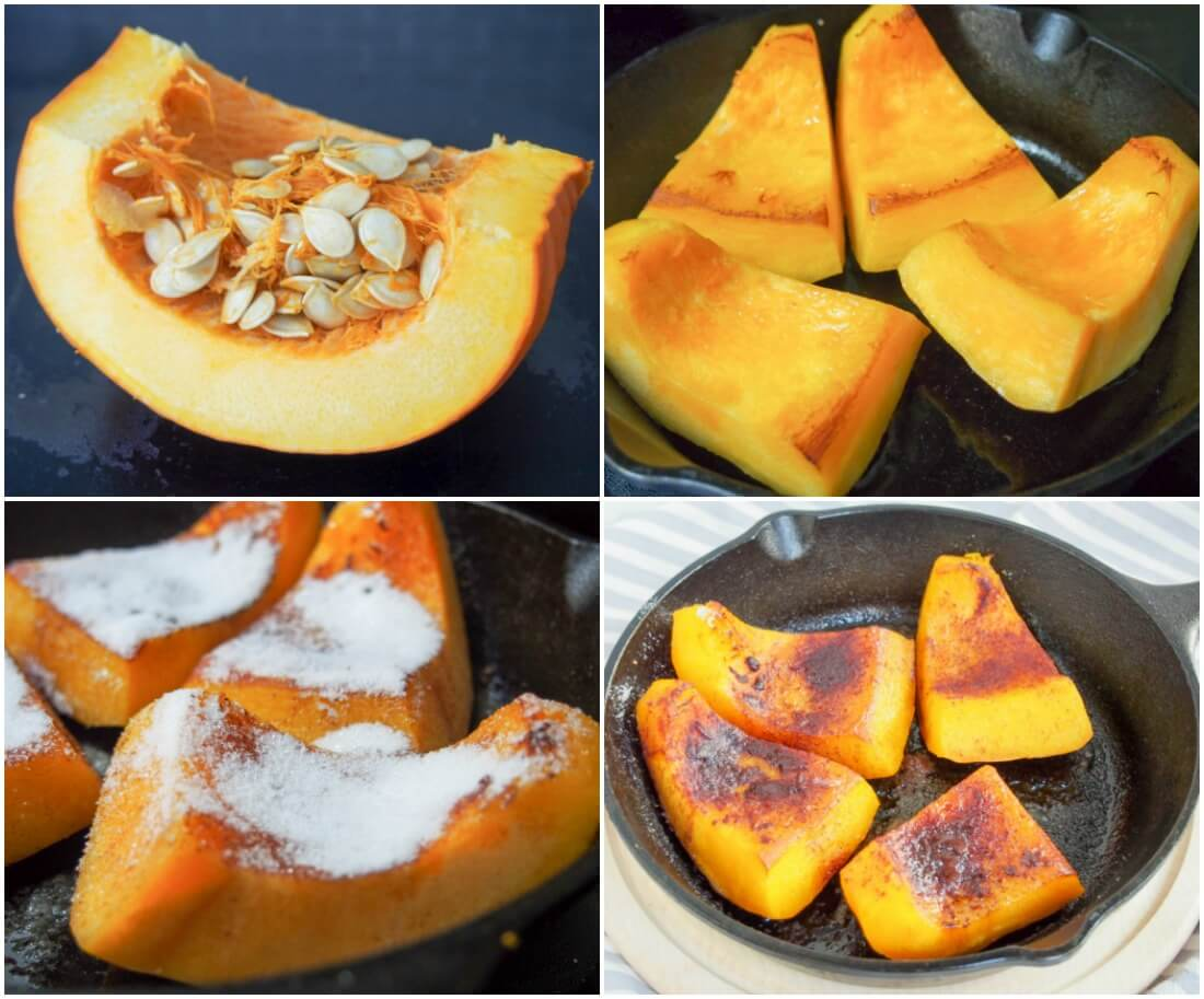 making Kaddo bowrani (Afghan pumpkin with yoghurt sauce)