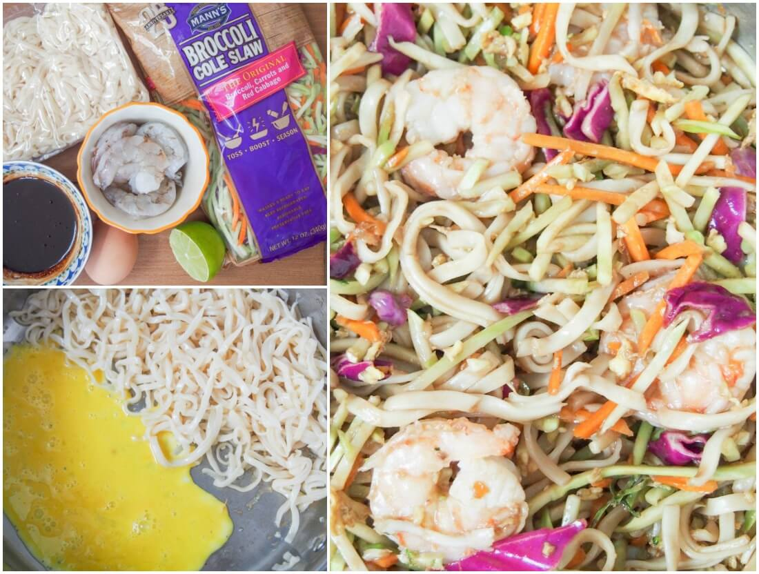making easy pad Thai recipe