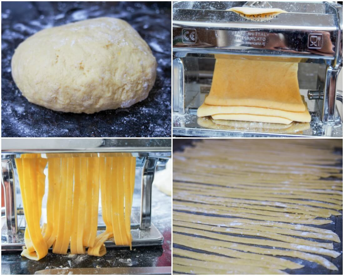making pumpkin pasta
