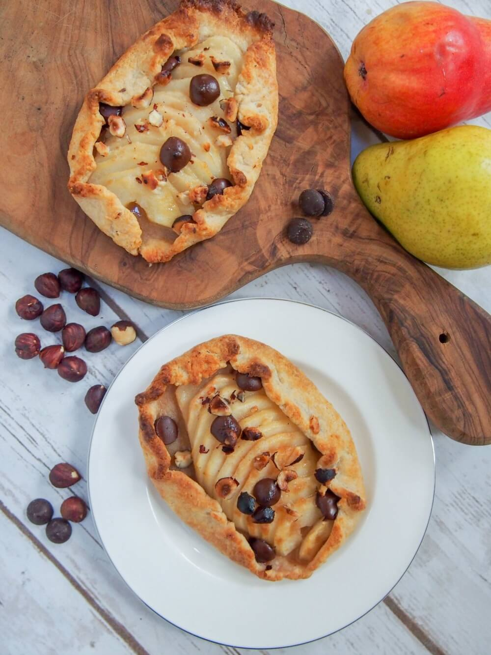Individual pear galette