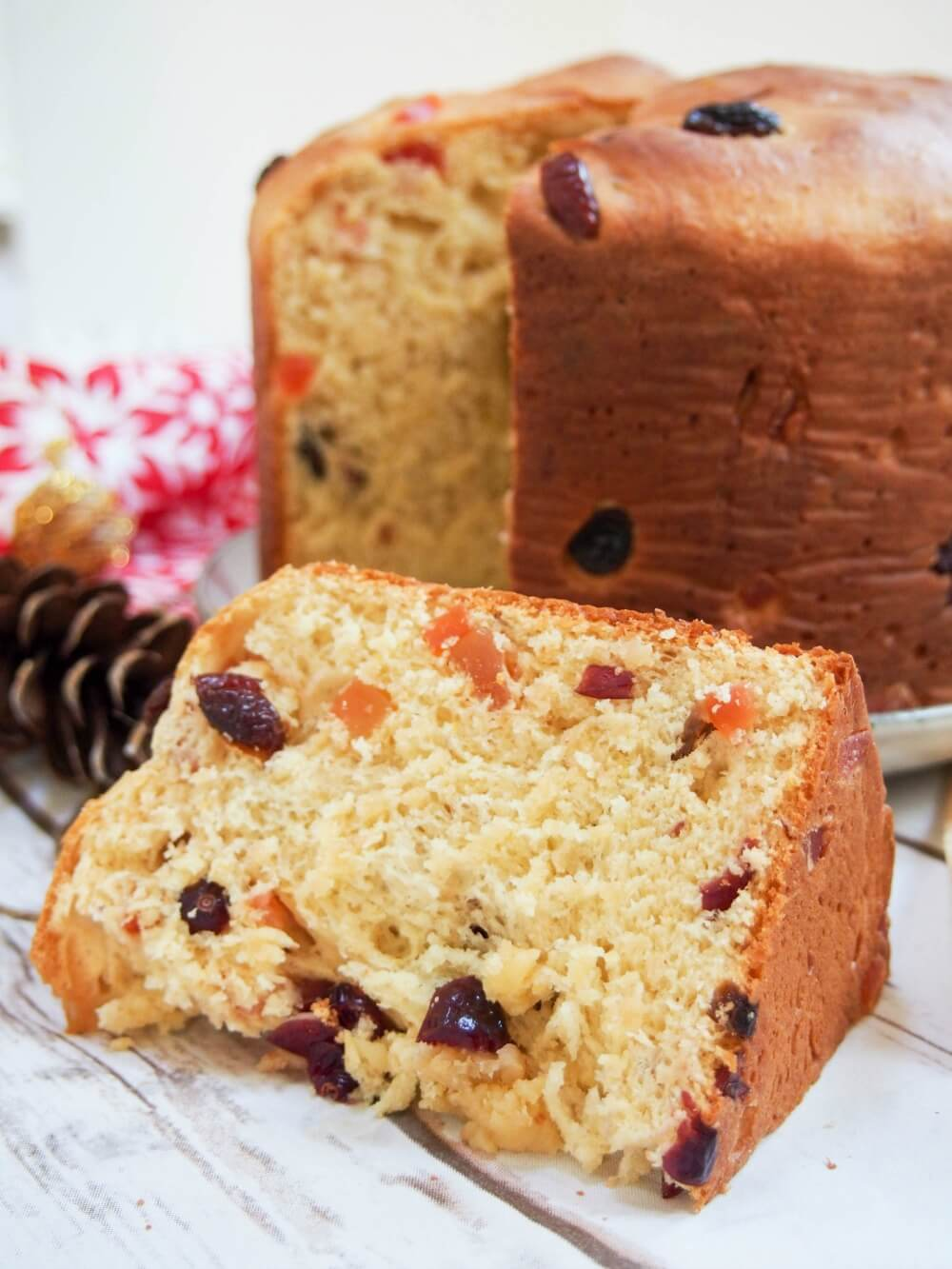 Panettone - a lightly sweet fruit studded bread common over Christmas/New Year.