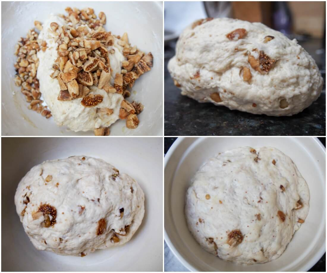 making fig and walnut bread
