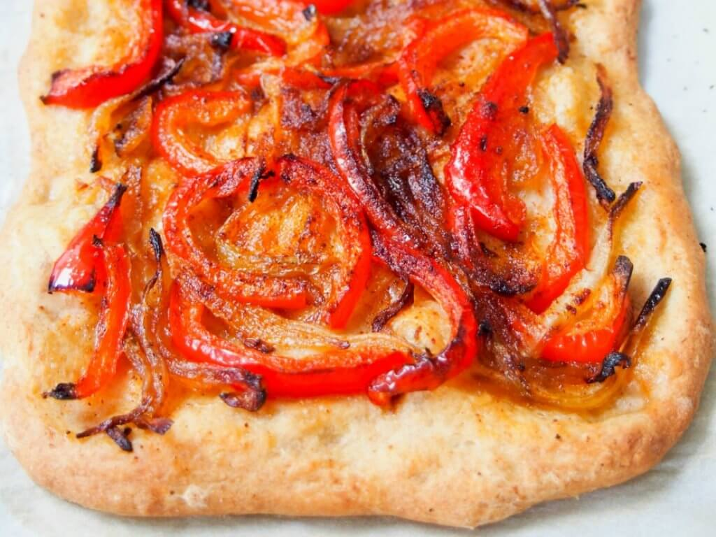 Catalan coca Spanish pizza