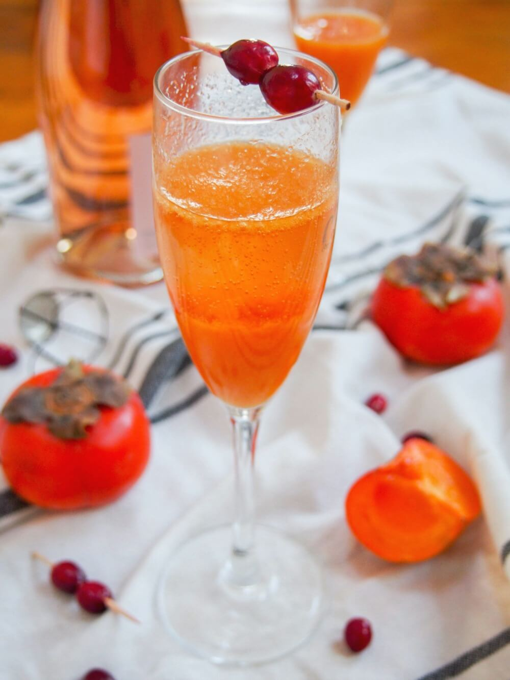 persimmon apple cider mimosa