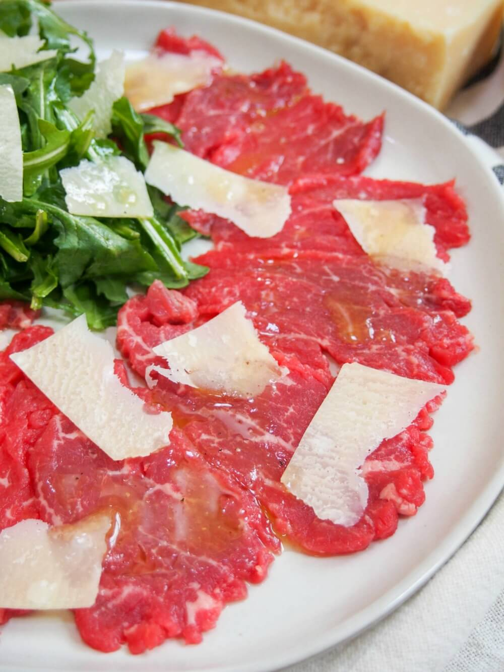 Beef carpaccio with truffle vinaigrette