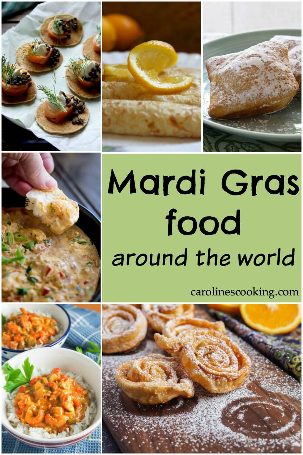 Mardi gras food around the world - from beignets in New Orleans to brigadeiros in Brazil. Mardi Gras goes by many names and has many flavors, sweet and savory - discover some traditional dishes and try some yourself! #mardi gras #international #traditional #recipes #roundup