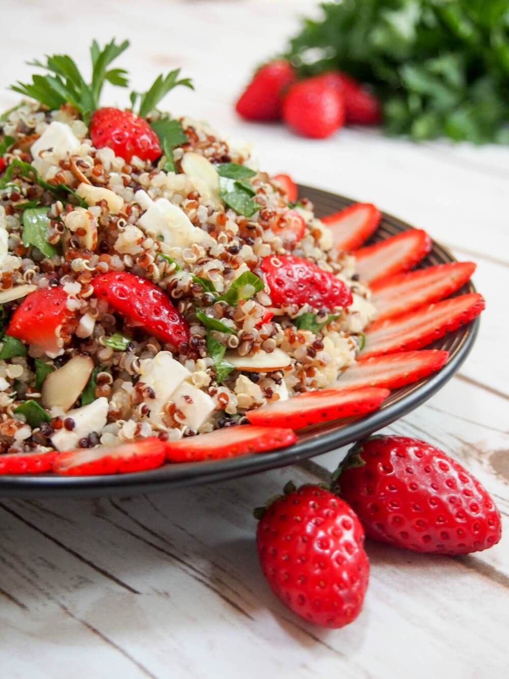 strawberry quinoa salad with feta