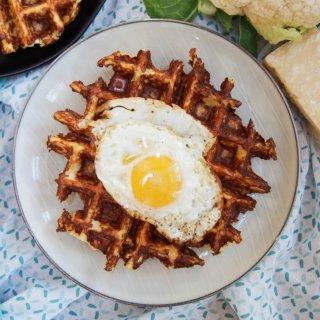 Cauliflower waffles
