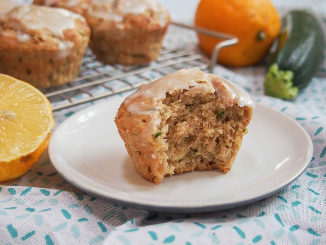 Meyer lemon zucchini muffins