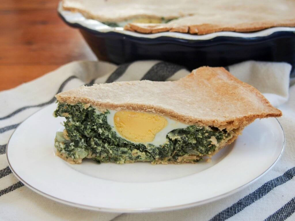 Torta pascualina (Spinach ricotta pie)