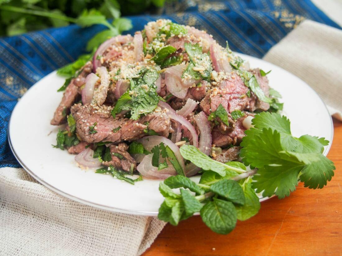Thai beef salad (Nam Tok, 'waterfall beef')