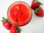 pickled strawberries for cod tacos with pickled strawberry slaw
