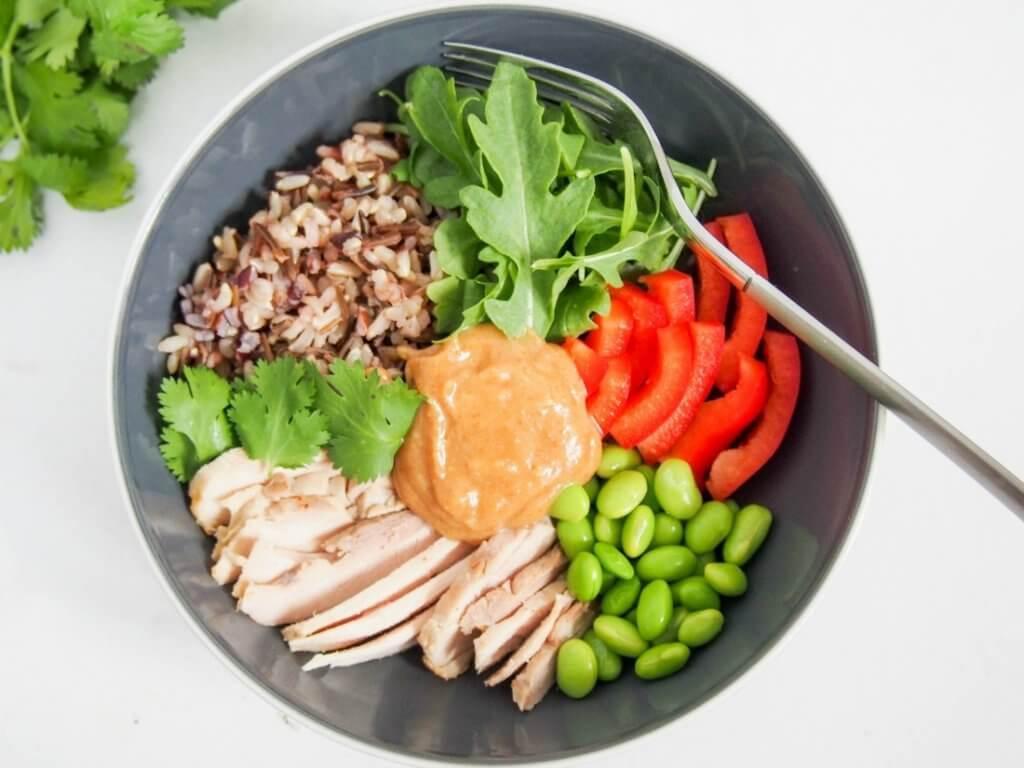 Thai-style leftover chicken Buddha bowl